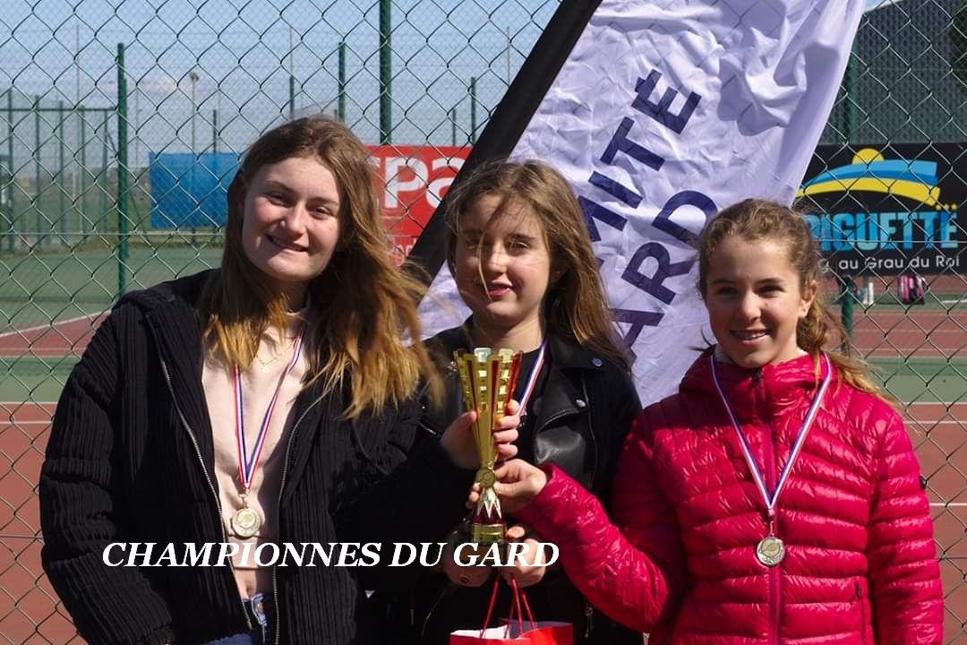 Les filles championnes